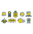 volleyball logo set vector image vector image