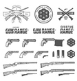 Weapons labels emblems and design elements vector image