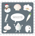 White color on gray Background vector image vector image