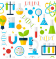 White Seamless Pattern Science Education vector image
