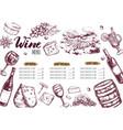 wine restaurant menu 3 vector image