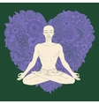 Yoga lotus position vector image vector image