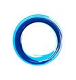 zen symbol abstract blue ink brush vector image vector image