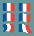 Flag of France Set national flag of French state vector image
