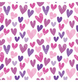 seamless pattern with a lot of hearts vector image