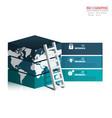 3d creative business infographics set element vector image