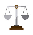 colorful silhouette of justice scales without vector image