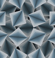 Cubic seamless pattern 3d background of squares vector image