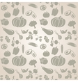 Set of vegetables Seamless vector image