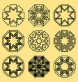 a set of northern ornaments vector image