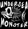 tee graphic design underwater monster vector image