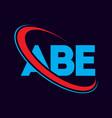 abe letter logo design