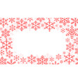 abstract christmas background winter frame with vector image