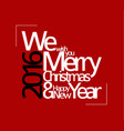 abstract typography christmas card vector image vector image