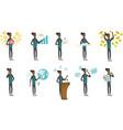 african businessman set vector image