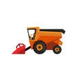 agricultural harvester combine farm machinery vector image vector image