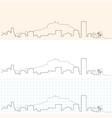 alicante hand drawn skyline vector image vector image