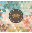 background made of triangles Retro label vector image vector image