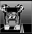 big truck on highway vector image vector image
