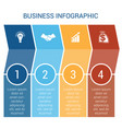 business infographic design for timeline four vector image vector image
