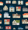 cartoon houses exterior seamless pattern vector image vector image