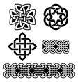 Celtic Irish patterns and knots St Patricks Day vector image vector image