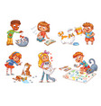 child care for cat vector image vector image