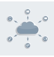 Cloud computing technology vector image vector image