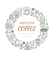 Coffee shop poster template line vector image vector image