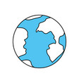 color sectors silhouette of earth globe icon vector image vector image