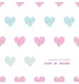 Colorful polka dot textile hearts center frame vector image