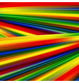 colorful smooth light lines background rainbow vector image vector image