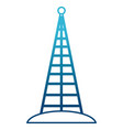 communications antenna isolated vector image vector image