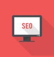 desktop seo icon set of great flat icons with vector image