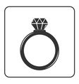 Diamond engagement ring icon 5 vector image