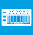 electronic synth icon white vector image vector image