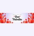 feliz dia de san valentin background with hearts vector image vector image