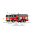 flat fire engine vector image