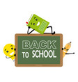 funny card back to school vector image vector image