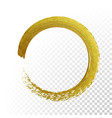 gold circle glitter texture paint brush on vector image vector image