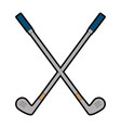 golf clubs accessory icon vector image vector image