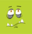 green monster facial expression vector image