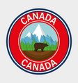 grizzly bear canadian frame vector image