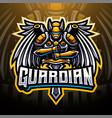 guardian esports mascot logo design vector image vector image