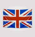 hanging flag of great britain united kingdom vector image