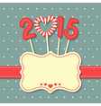 happy new year 2015 candy vector image vector image