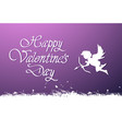 happy valentines day lettering cute greeting card vector image