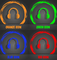 headphones icon Fashionable modern style In the vector image