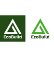 home building logo and symbols eco real estate vector image
