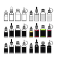 icons of e liquid vector image vector image